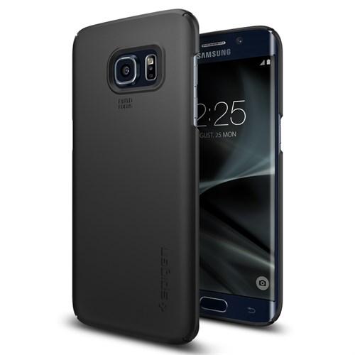 Spigen Galaxy S7 Edge Kılıf Thin Fit Ultra İnce Black - 556CS20029