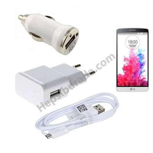 Fonemax Lg G3 3İn1 Ev Ve Araç Şarjı + Data Kablosu Seti
