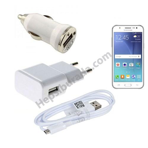 Fonemax Samsung Galaxy J5 3İn1 Ev Ve Araç Şarjı + Data Kablosu Seti
