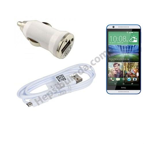 Fonemax Htc Desire 820 Araç Şarj Cihazı+Micro Usb Kablo