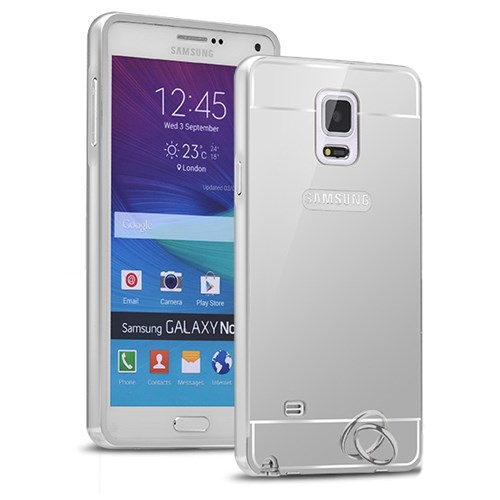 Microsonic Samsung Galaxy Note 4 Kılıf Luxury Mirror Gümüş
