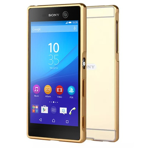 Microsonic Sony Xperia M5 Kılıf Luxury Mirror Gold