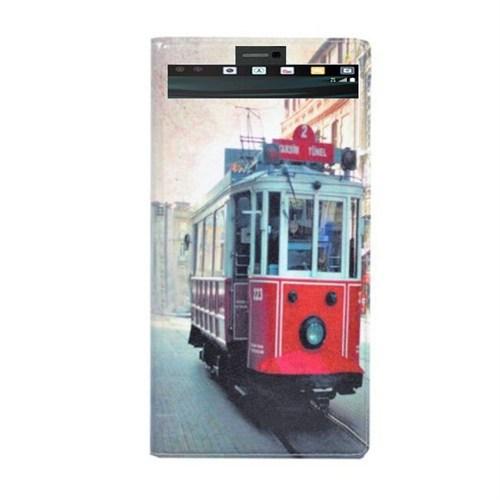 Teleplus Lg V10 Desenli Pencereli Kılıf Taksim