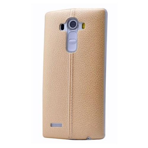 Teleplus Lg G4 Stylus Dikişli Silikon Kılıf Sarı