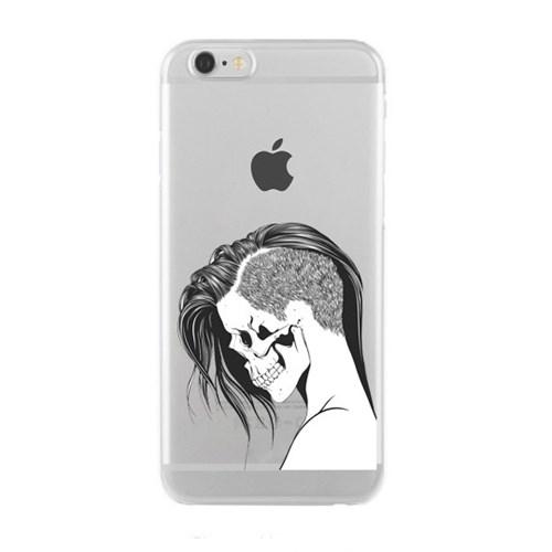 Remeto iPhone 6/6S Şeffaf Silikon Resimli Stil Kesim Kurukafa