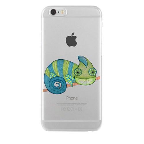 Remeto iPhone 6/6S Plus Şeffaf Silikon Resimli Bukalemun