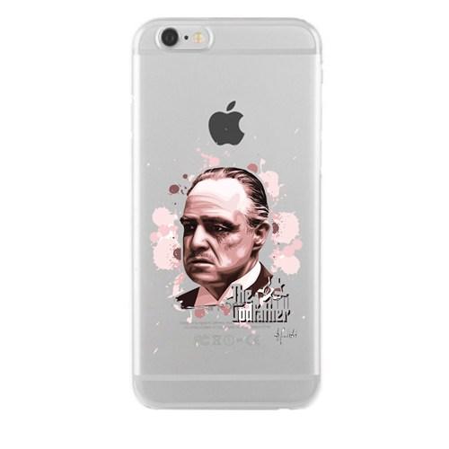 Remeto iPhone 6/6S Godfather Apple Şeffaf Silikon Resimli Kılıf