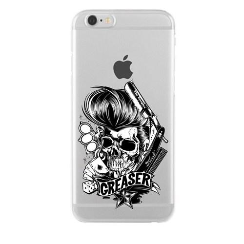 Remeto iPhone 6/6S Plus Karizma Kurukafa Apple Şeffaf Silikon Resimli Kılıf