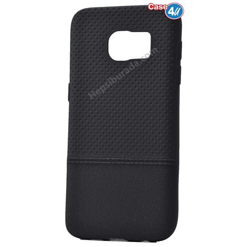 Case 4U Samsung Galaxy S7 Matrix Silikon Kapak Siyah