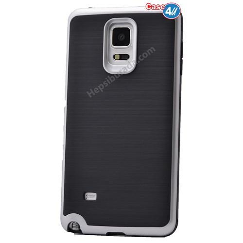 Case 4U Samsung Galaxy Note 4 Infinity Koruyucu Kapak Gri
