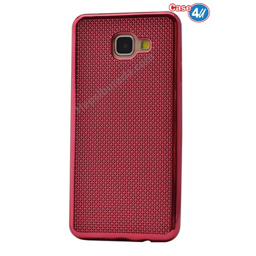 Case 4U Samsung A510 Galaxy A5 Hasır Desenli Ultra İnce Silikon Kılıf Kırmızı