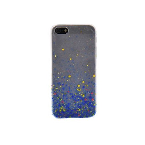 Duck Apple iPhone 5 Paint Drops S-Line Mavi-Sari Kapak