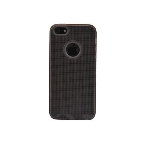Vacca Apple İphone 5 Logo Delikli Medium Hard Case Füme Kapak