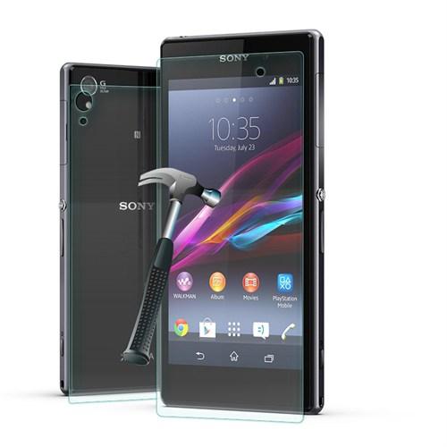 Cep Market Sony Xperia Z1 Cam Kırılmaz Ön Arka Ekran Koruyucu