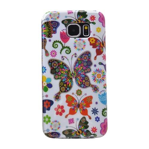 Teleplus Samsung Galaxy Note 5 Desenli Silikon Kılıf Kelebek