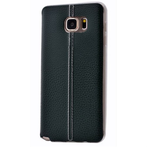 Teleplus Samsung Galaxy S6 Edge Plus Dikişli Silikon Kılıf Yeşil