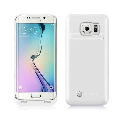 Teleplus Samsung Galaxy S6 Edge Şarjlı Kılıf 4200Mah Beyaz