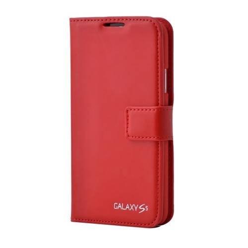Teleplus Samsung Galaxy S5 Cüzdanlı Kılıf Kırmızı Renk