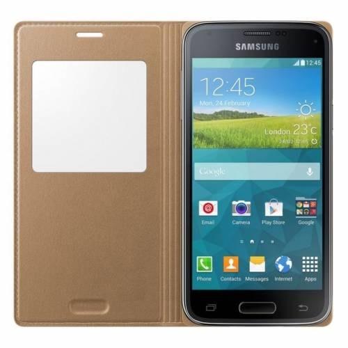 Markaawm Samsung Galaxy S5 Mini Kılıf Flip Cover Uyku Modlu