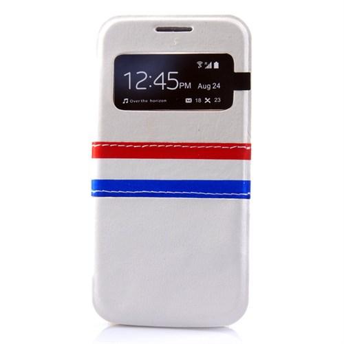 Markaawm Samsung Galaxy S4 Kılıf Flip Cover Camlı Deri