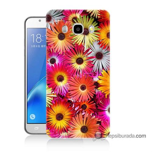 Teknomeg Samsung J7 2016 Kılıf Kapak Kasımpatı Baskılı Silikon