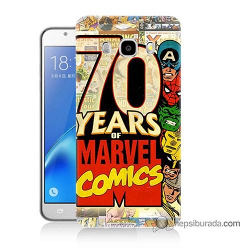 Teknomeg Samsung J7 2016 Kılıf Kapak Marvel Karakterleri Baskılı Silikon