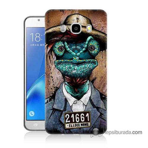 Teknomeg Samsung J7 2016 Kılıf Kapak İguana Adam Baskılı Silikon