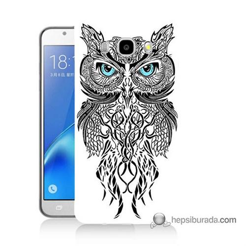 Teknomeg Samsung J7 2016 Kapak Kılıf Örgülü Baykuş Baskılı Silikon