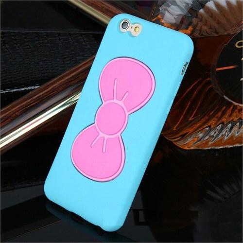 Teleplus İphone 6S Papyon Silikon Kılıf Mavi