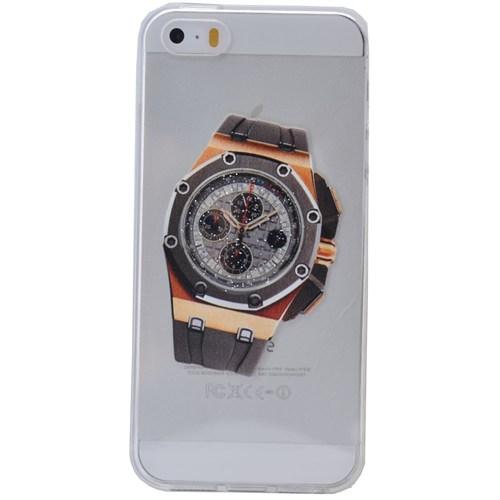 Teleplus İphone 6S Plus Saat Desenli Silikon Kılıf 7