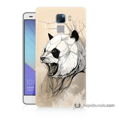 Teknomeg Huawei Honor 7 Kapak Kılıf Kavgacı Panda Baskılı Silikon