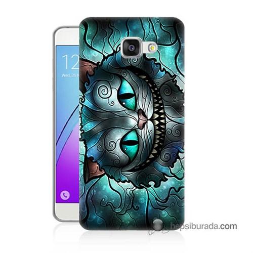 Teknomeg Samsung Galaxy A5 2016 Kapak Kılıf Alice Kedi Baskılı Silikon