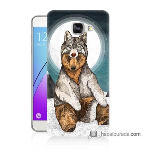 Teknomeg Samsung Galaxy A5 2016 Kapak Kılıf Postlu Ayı Baskılı Silikon