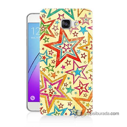 Teknomeg Samsung Galaxy A5 2016 Kılıf Kapak Yıldızlar Baskılı Silikon