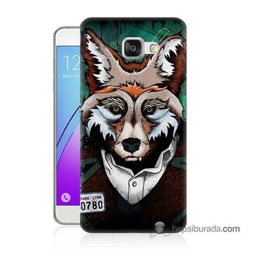 Teknomeg Samsung Galaxy A7 2016 Kılıf Kapak Bad Wolf Baskılı Silikon