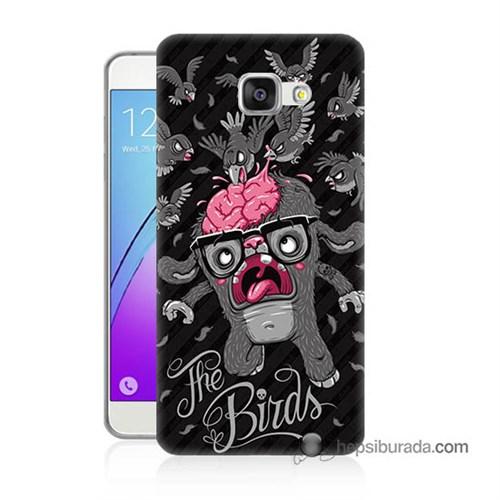 Teknomeg Samsung Galaxy A7 2016 Kılıf Kapak The Birds Baskılı Silikon