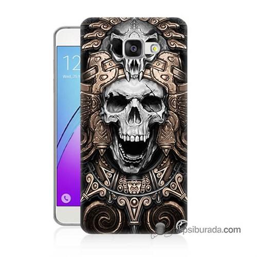Teknomeg Samsung Galaxy A7 2016 Kılıf Kapak Kafatası Krallığı Baskılı Silikon