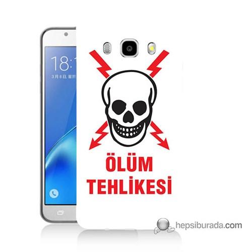 Teknomeg Samsung J5 2016 Kapak Kılıf Ölüm Tehlikesi Baskılı Silikon