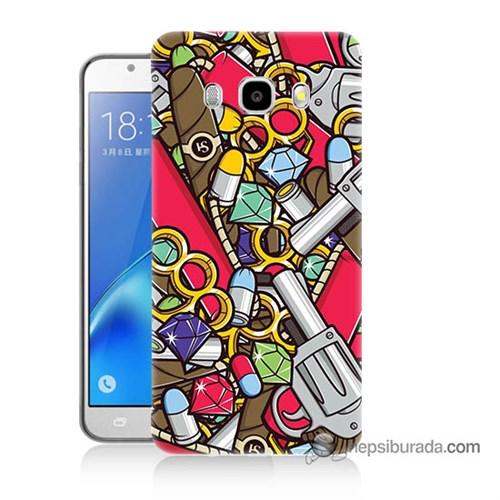 Teknomeg Samsung J5 2016 Kılıf Kapak Cephane Baskılı Silikon