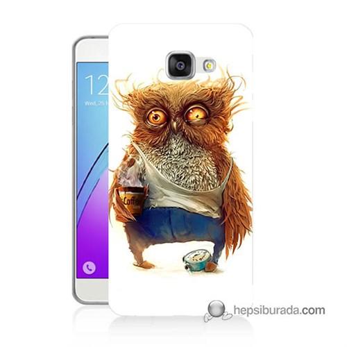 Teknomeg Samsung Galaxy A7 2016 Kapak Kılıf Miskin Baykuş Baskılı Silikon
