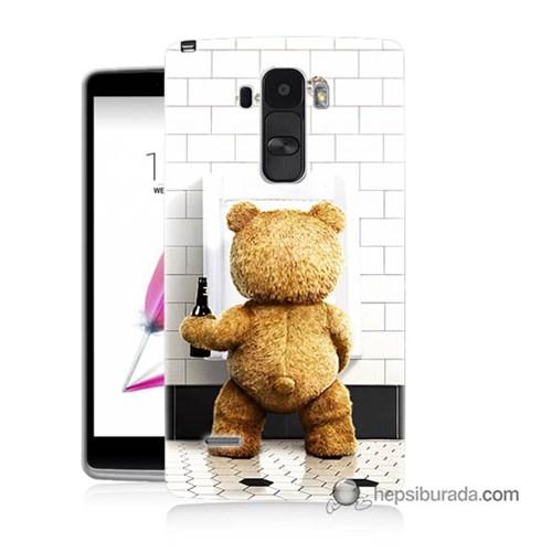 Teknomeg Lg G4 Stylus Kılıf Kapak Tedy Bear Baskılı Silikon