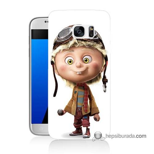 Teknomeg Samsung Galaxy S7 Kılıf Kapak Çizgi Karakter Baskılı Silikon