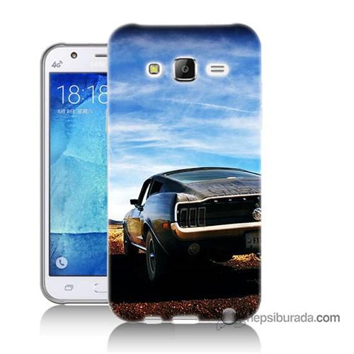 Teknomeg Samsung Galaxy J7 Kılıf Kapak Mustang Baskılı Silikon