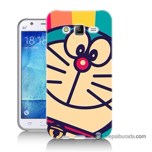 Teknomeg Samsung Galaxy J5 Kapak Kılıf Hırçın Kedi Baskılı Silikon
