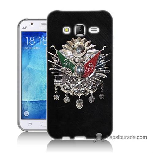 Teknomeg Samsung Galaxy J7 Kapak Kılıf Osmanlı Baskılı Silikon