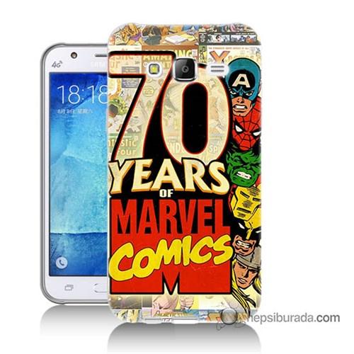 Teknomeg Samsung Galaxy J7 Kılıf Kapak Marvel Karakterleri Baskılı Silikon