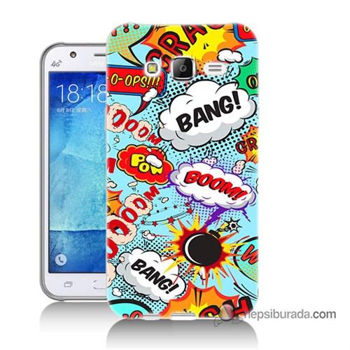 Teknomeg Samsung Galaxy J7 Kılıf Kapak Savaş Efektleri Baskılı Silikon