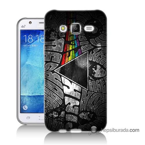 Teknomeg Samsung Galaxy J7 Kapak Kılıf Pink Floyd Baskılı Silikon