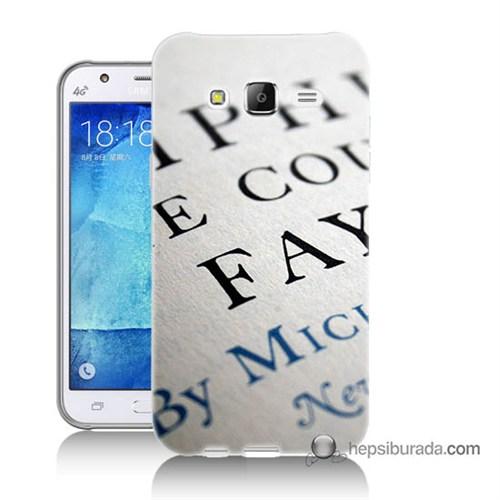 Teknomeg Samsung Galaxy J7 Kapak Kılıf Yazılar Baskılı Silikon