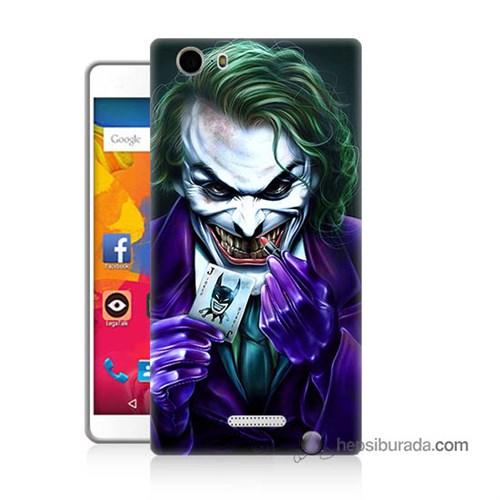 Teknomeg Casper Via M1 Kapak Kılıf Joker Baskılı Silikon